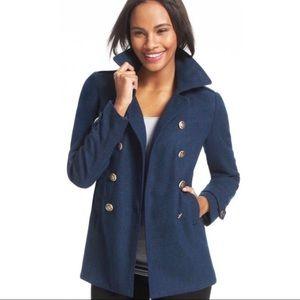 CAbi Prep School Nautical Pea Coat, Blue, sz M
